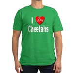 I Love Cheetahs for Cheetah L Men's Fitted T-Shirt