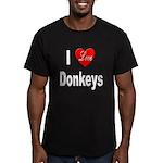 I Love Donkeys Men's Fitted T-Shirt (dark)