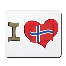 I heart Norway Mousepad
