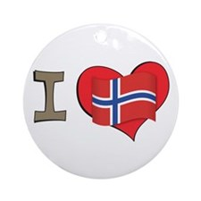 I heart Norway Ornament (Round)