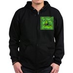 Kiss Me I'm Irish Zip Hoodie (dark)