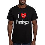 I Love Flamingos Men's Fitted T-Shirt (dark)