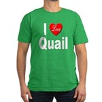 I Love Quail Men's Fitted T-Shirt (dark)
