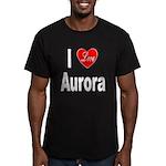 I Love Aurora Men's Fitted T-Shirt (dark)