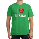 I Love El Paso Texas Men's Fitted T-Shirt (dark)