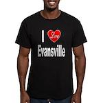 I Love Evansville Men's Fitted T-Shirt (dark)