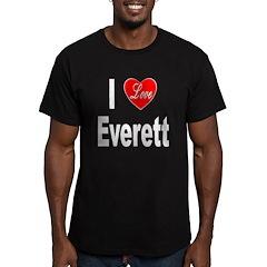 I Love Everett Men's Fitted T-Shirt (dark)