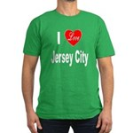 I Love Jersey City Men's Fitted T-Shirt (dark)