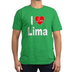 I Love Lima Men's Fitted T-Shirt (dark)