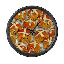 Hot Cross Buns Large Wall Clock