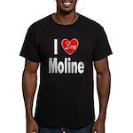 I Love Moline Men's Fitted T-Shirt (dark)
