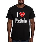 I Love Pocatello Men's Fitted T-Shirt (dark)