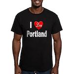 I Love Portland Men's Fitted T-Shirt (dark)