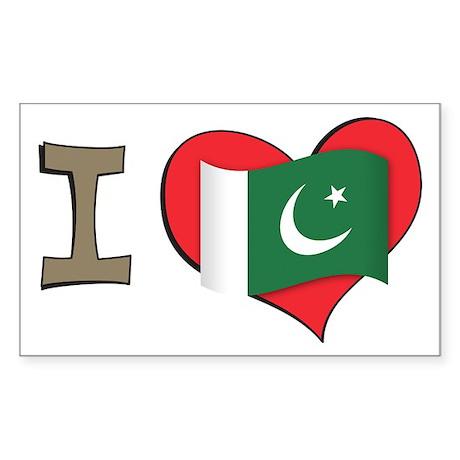 I heart Pakistan Rectangle Sticker