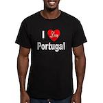 I Love Portugal Men's Fitted T-Shirt (dark)