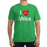 I Love Africa Men's Fitted T-Shirt (dark)