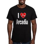 I Love Arcadia Men's Fitted T-Shirt (dark)