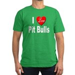 I Love Pit Bulls Men's Fitted T-Shirt (dark)