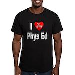 I Love Phys Ed Men's Fitted T-Shirt (dark)