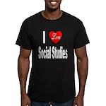 I Love Social Studies Men's Fitted T-Shirt (dark)