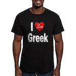 I Love Greek Men's Fitted T-Shirt (dark)