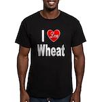 I Love Wheat Men's Fitted T-Shirt (dark)