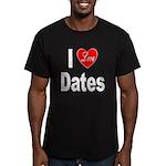 I Love Dates Men's Fitted T-Shirt (dark)