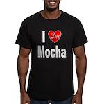 I Love Mocha Men's Fitted T-Shirt (dark)