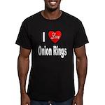 I Love Onion Rings Men's Fitted T-Shirt (dark)