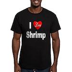 I Love Shrimp Men's Fitted T-Shirt (dark)