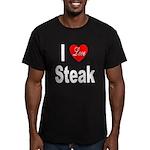 I Love Steak Men's Fitted T-Shirt (dark)
