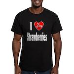 I Love Strawberries Men's Fitted T-Shirt (dark)