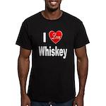 I Love Whiskey Men's Fitted T-Shirt (dark)