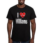 I Love Williams Men's Fitted T-Shirt (dark)