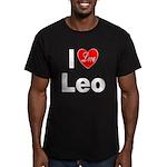 I Love Leo Men's Fitted T-Shirt (dark)