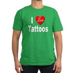 I Love Tattoos Men's Fitted T-Shirt (dark)