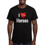 I Love Horses Men's Fitted T-Shirt (dark)
