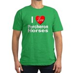 I Love Percheron Horses Men's Fitted T-Shirt (dark