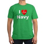 I Love Navy Men's Fitted T-Shirt (dark)