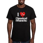 I Love Classical Music Men's Fitted T-Shirt (dark)