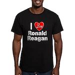 I Love Ronald Reagan Men's Fitted T-Shirt (dark)