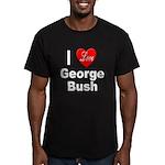 I Love George Bush Men's Fitted T-Shirt (dark)