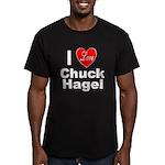 I Love Chuck Hagel Men's Fitted T-Shirt (dark)