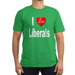 I Love Liberals Men's Fitted T-Shirt (dark)