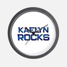 kaelyn rocks Wall Clock
