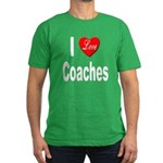I Love Coaches Men's Fitted T-Shirt (dark)