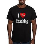 I Love Coaching Men's Fitted T-Shirt (dark)