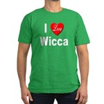I Love Wicca Men's Fitted T-Shirt (dark)