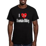 I Love Mountain Biking Men's Fitted T-Shirt (dark)