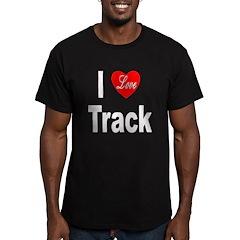 I Love Track Men's Fitted T-Shirt (dark)